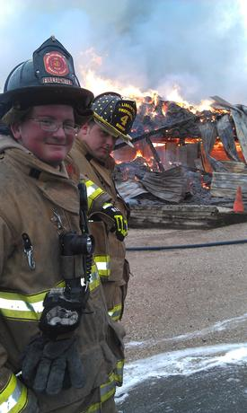 Firefighter Kyle Stull and Chris Bishop