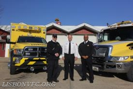 New Paramedic 45 along side soon to be Paramedic 46 with B/C LePore, Chief Mcintosh and Chief Butler