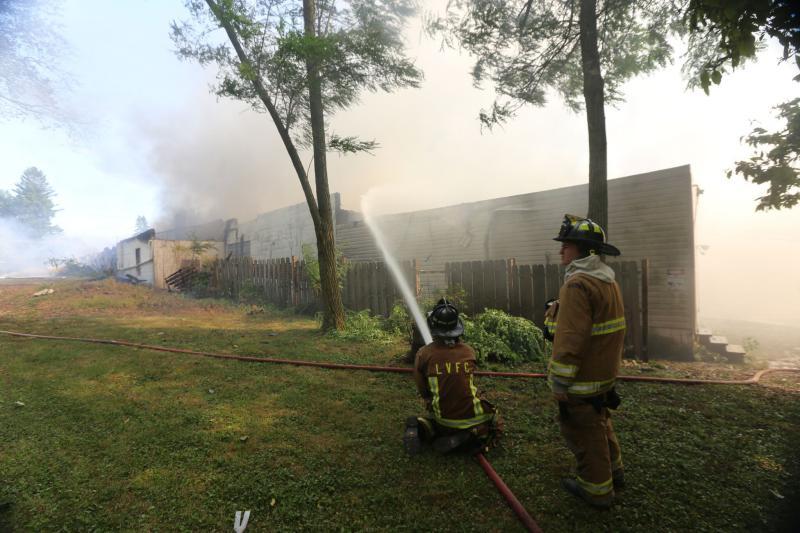 Engine Company Runs Two Alarm Building Fire - Lisbon Volunteer Fire