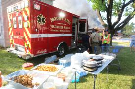 Restaurants from all over town provided crews delicious food while they worked. Photo Credit: D. Walton, HCDFRS