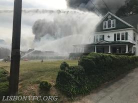 Crews protected a house on the delta side with handlines and the master stream from Engine 41