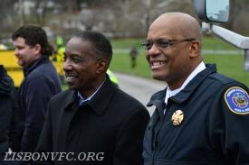 Howard County Chief Admin Officer, Lonnie Robbins (Left), HCDFRS Chief John Butler (Right)