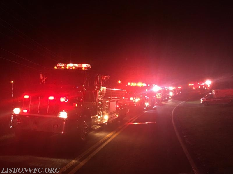 Tankers in Line on the Frederick County Call, Photo Credit S. Conley