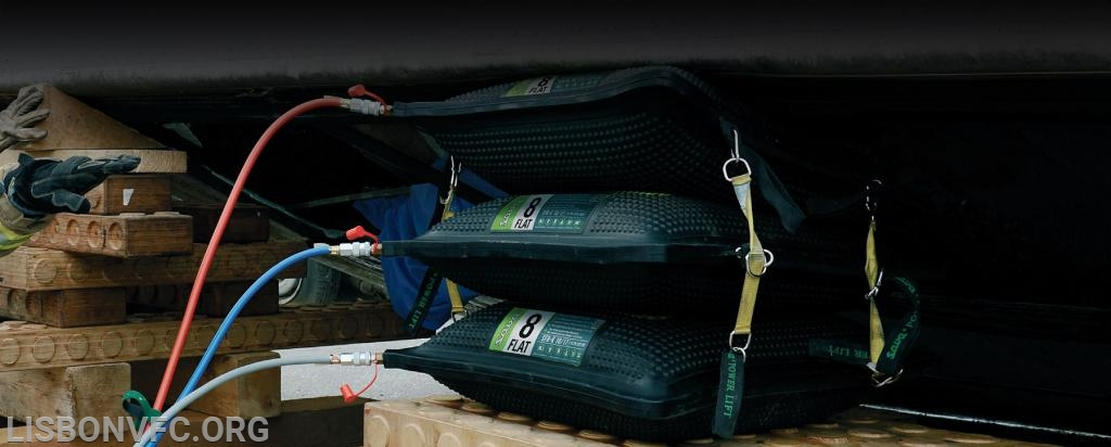 High pressure lifting bags similar to those to be purchased with the BGE First Responder Safety Grant.
